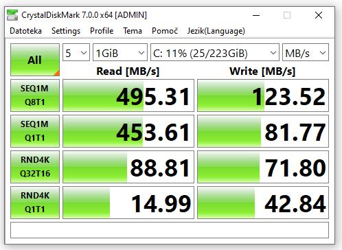 Hitrost SSD diska